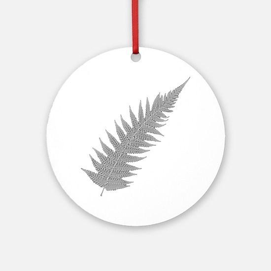 Silver Fern Aotearoa Round Ornament