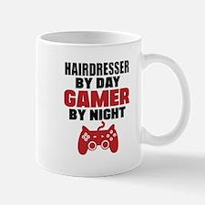 HAIRDRESSER BY DAY GAMER BY NIGHT Mugs
