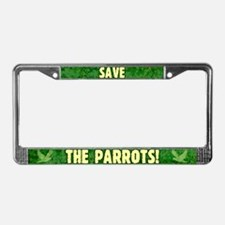 Save The Parrots License Plate Frame