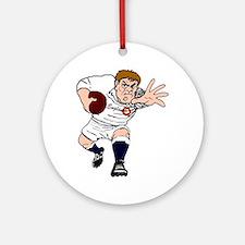 English Rugby Forward Round Ornament
