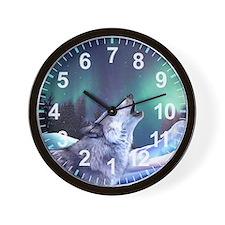 Winter Wolf 2015 Wall Clock