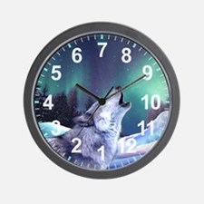 Winter Wolf 2015 Wall Clock