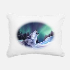 Winter Wolf 2015 Rectangular Canvas Pillow