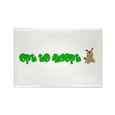 Opt to Adopt Rectangle Magnet