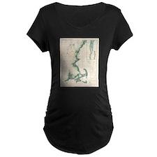 Vintage map of the Massachusetts Maternity T-Shirt
