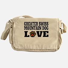 Greater Swiss Mountain Dog Love Messenger Bag