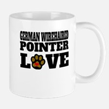 German Wirehaired Pointer Love Mugs