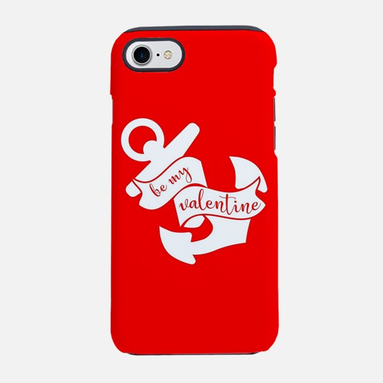 Navy Be my Valentine Anchor iPhone 8/7 Tough Case