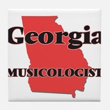 Georgia Musicologist Tile Coaster