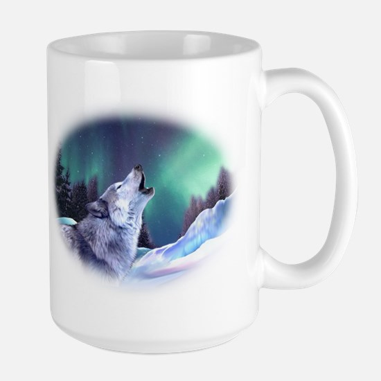 Winter Wolf 2015 Large Mug