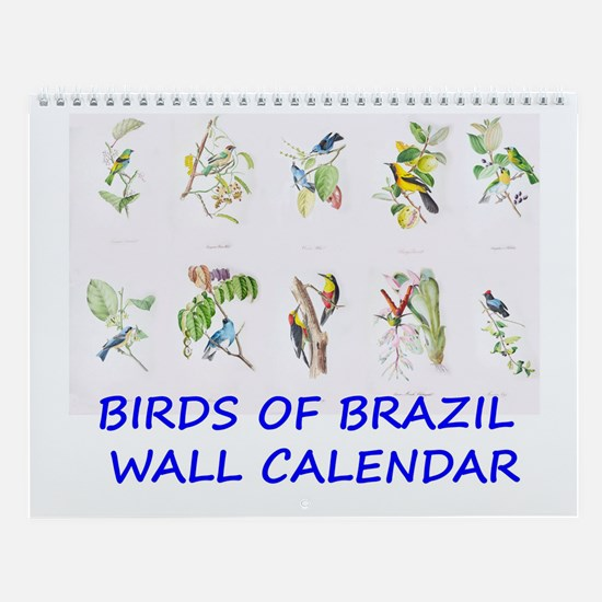 Brazilian Tropical Birds Wall Calendar