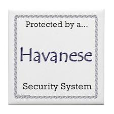 Havanese Security Tile Coaster