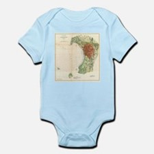 Vintage Map of Burlington Vermont (1872) Body Suit