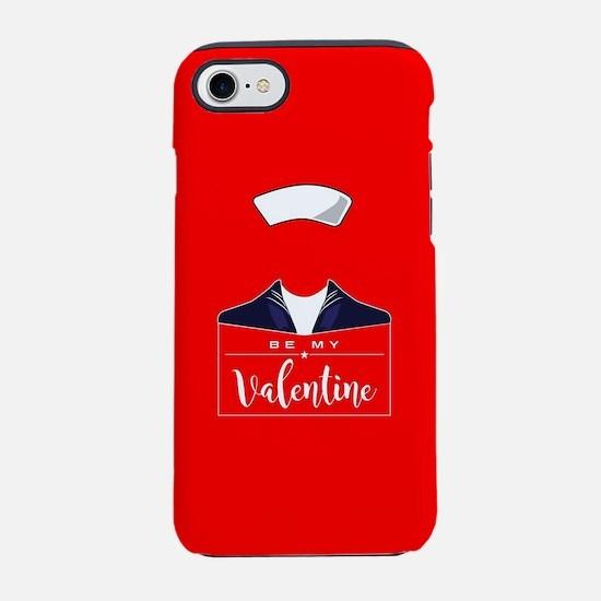 Navy be my Valentine iPhone 8/7 Tough Case