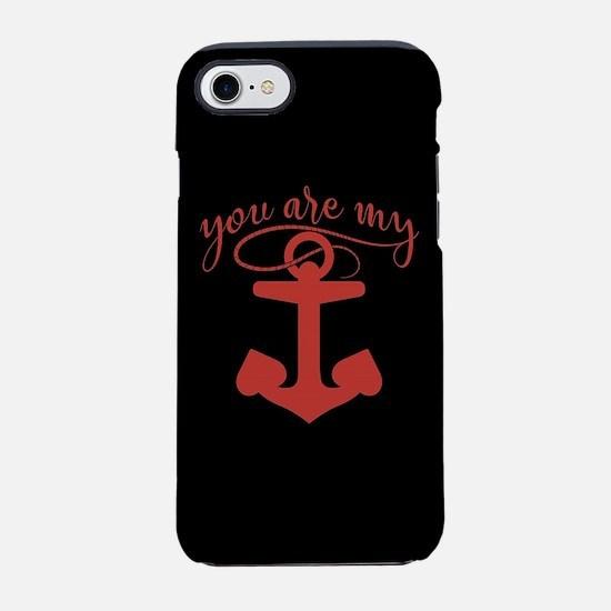 Navy You are my Anchor iPhone 8/7 Tough Case