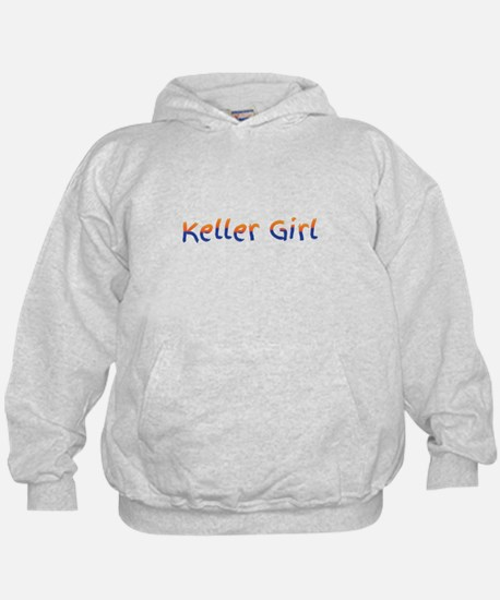 Keller Girl Blue and Gold. Hoodie