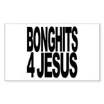 Bonghits 4 Jesus Rectangle Sticker
