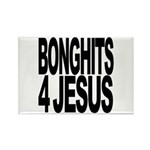 Bonghits 4 Jesus Rectangle Magnet