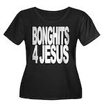 Bonghits 4 Jesus Women's Plus Size Scoop Neck Dark