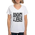 Bonghits 4 Jesus Women's V-Neck T-Shirt
