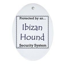 Ibizan Hound Security Oval Ornament