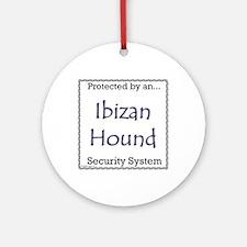 Ibizan Hound Security Ornament (Round)