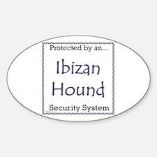 Ibizan Hound Security Oval Decal