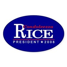 CONDOLEEZZA RICE PRESIDENT 20 Oval Decal