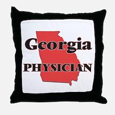 Georgia Physician Throw Pillow