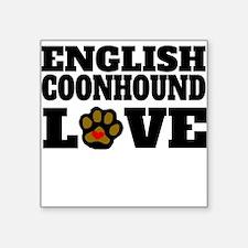 English Coonhound Love Sticker