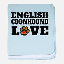 English Coonhound Love baby blanket