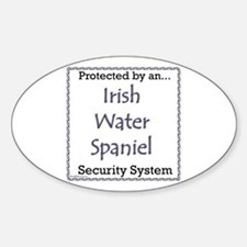 Water Spaniel Security Oval Decal