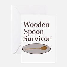 Wooden Spoon Survivor Greeting Cards