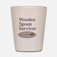 Wooden Spoon Survivor Shot Glass