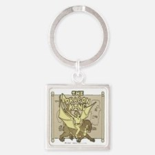 The Dragon King Square Keychain