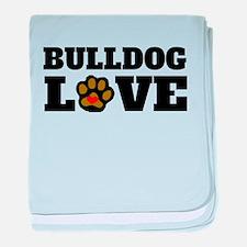Bulldog Love baby blanket