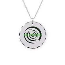 Runner in the Maze Necklace Circle Charm