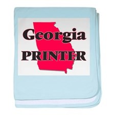 Georgia Printer baby blanket