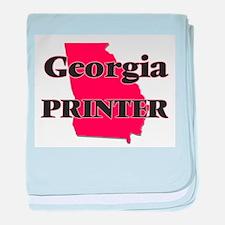 Georgia Printer baby blanket