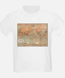 Vintage Map of The World (1870) T-Shirt
