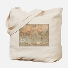 Vintage Map of The World (1870) Tote Bag