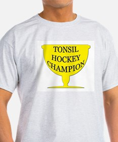 Tonsil Hockey Champion Trophy Ash Grey T-Shirt
