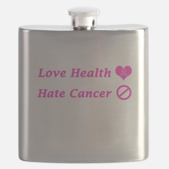 Love Health, Hate Cancer Charity Design Flask