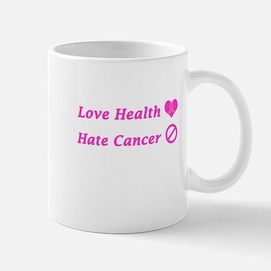 Love Health, Hate Cancer Charity Design Mugs