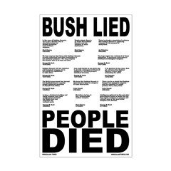 Bush Lied, People Died Poster (11x17)