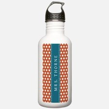 Orange Polka Dots - Pe Water Bottle