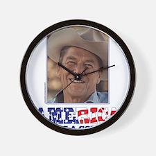 Ronald Reagan - America Needs a Cowboy Wall Clock