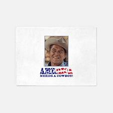 Ronald Reagan - America Needs a Cow 5'x7'Area Rug