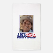 Ronald Reagan - America Needs a Cowboy Area Rug