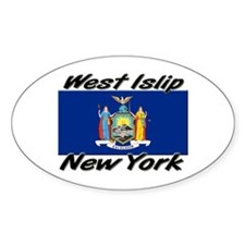 West Islip New York Oval Decal